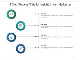 4 Step Process Slide For Insight Driven Marketing Infographic Template