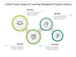 4 Step Process Stages For Learning Management System Industry Infographic Template