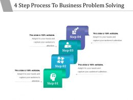 4 Step Process To Business Problem Solving Powerpoint Slide