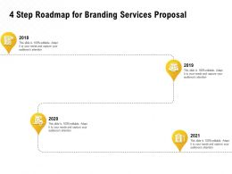 4 Step Roadmap For Branding Services Proposal Ppt Powerpoint Download