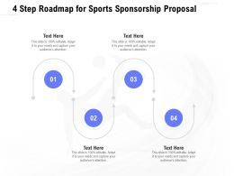 4 Step Roadmap For Sports Sponsorship Proposal Ppt Powerpoint Presentation Styles
