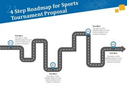 4 Step Roadmap For Sports Tournament Proposal Ppt Powerpoint Model