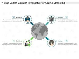 4 Step Vector Circular For Online Marketing Infographic Template