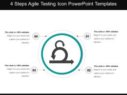 4 Steps Agile Testing Icon Powerpoint Templates