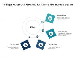 4 Steps Approach Graphic For Online File Storage Secure Infographic Template