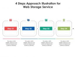 4 Steps Approach Illustration For Web Storage Service Infographic Template