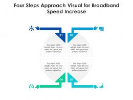4 Steps Approach Visual For Broadband Speed Increase Infographic Template