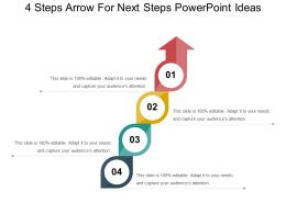 4 Steps Arrow For Next Steps Powerpoint Ideas
