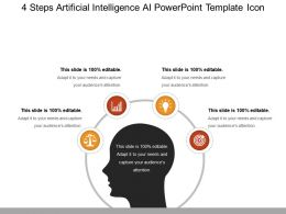 4 Steps Artificial Intelligence Ai Powerpoint Template Icon Powerpoint Ideas