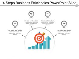 4 Steps Business Efficiencies Powerpoint Slide