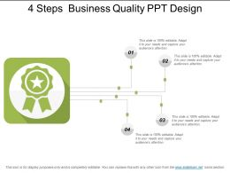 4 Steps Business Quality Ppt Design