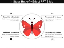 4 Steps Butterfly Effect Ppt Slide