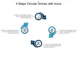 4 Steps Circular Arrows With Icons