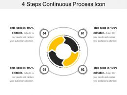 4 Steps Continuous Process Icon