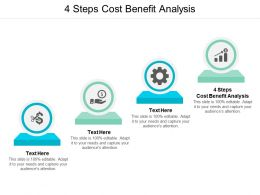 4 Steps Cost Benefit Analysis Ppt Powerpoint Presentation Gallery Show Cpb