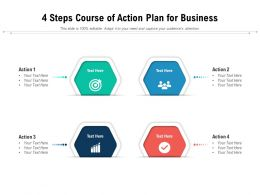4 Steps Course Of Action Plan For Business