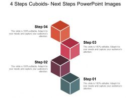 4 Steps Cuboids Next Steps Powerpoint Images