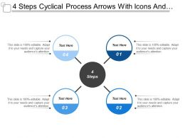 4 Steps Cyclical Process Arrows With Icons And Textboxes
