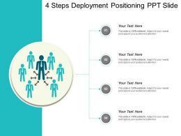 4 Steps Deployment Positioning Ppt Slide