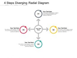 4 Steps Diverging Radial Diagram