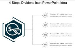 4 Steps Dividend Icon Powerpoint Idea