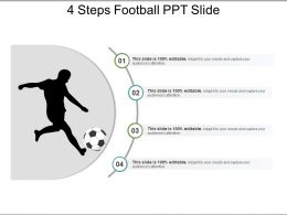 4 Steps Football Ppt Slide