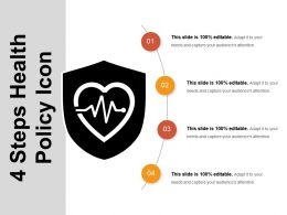 4 Steps Health Policy Icons