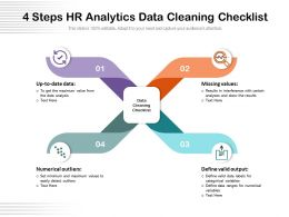 4 Steps HR Analytics Data Cleaning Checklist