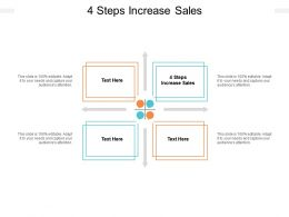 4 Steps Increase Sales Ppt Powerpoint Presentation Infographics Visuals Cpb