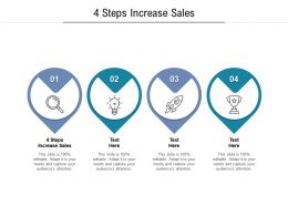 4 Steps Increase Sales Ppt Powerpoint Presentation Inspiration Structure Cpb