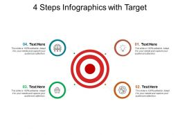 4 Steps Infographics With Target