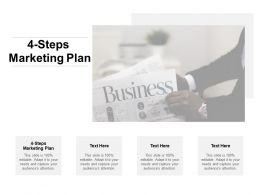 4 Steps Marketing Plan Ppt Powerpoint Presentation Show Outfit Cpb