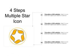 4 Steps Multiple Star Icon Powerpoint Show