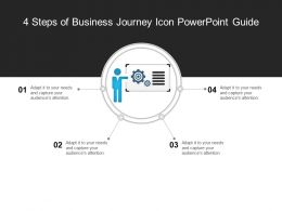 4 Steps Of Business Journey Icon Powerpoint Guide