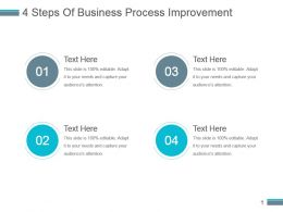 4 Steps Of Business Process Improvement Powerpoint Slide