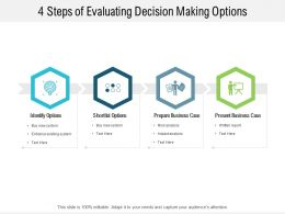 4 Steps Of Evaluating Decision Making Options