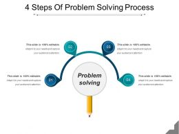 4 Steps Of Problem Solving Process Good Ppt Example