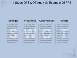 4 Steps Of Swot Analysis Example Of Ppt