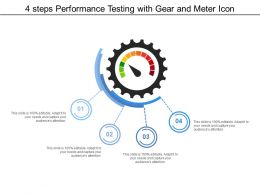 4 Steps Performance Testing With Gear And Meter Icon