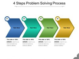 4 Steps Problem Solving Process Powerpoint Guide