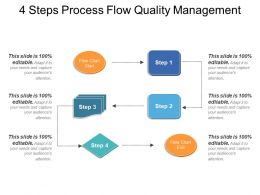 4 Steps Process Flow Quality Management Example Of Ppt
