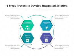 4 Steps Process To Develop Integrated Solution
