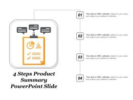 4 Steps Product Summary Powerpoint Slide