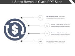 4 Steps Revenue Cycle Ppt Slide