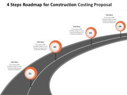 4 Steps Roadmap For Construction Costing Proposal Ppt Powerpoint Presentation Slideshow