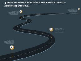 4 Steps Roadmap For Online And Offline Product Marketing Proposal Ppt Icons