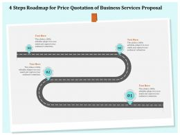 4 Steps Roadmap For Price Quotation Of Business Services Proposal Ppt File Topics