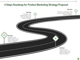 4 Steps Roadmap For Product Marketing Strategy Proposal Ppt Powerpoint Slides Rules
