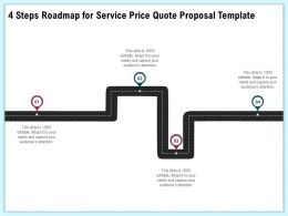 4 Steps Roadmap For Service Price Quote Proposal Template Ppt Demonstration