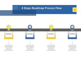 4 Steps Roadmap Process Flow M1246 Ppt Powerpoint Presentation Infographics Aids